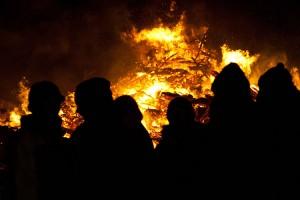 Schöne Stimmung beim Feuer...
