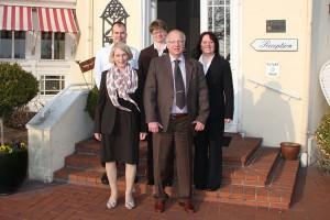 vl. Küchenchef Marcus Zelles, Barbara Koßmann, Assistentin der Geschäftsführung Susanne Winter, Peter Koßmann, Restaurantleiterin Tanja Walter.