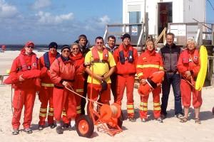 Die Strandkorbvermieter mir dem DLRG-Team