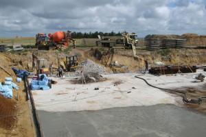 Abriss und Aufbau auf einer Baustelle...