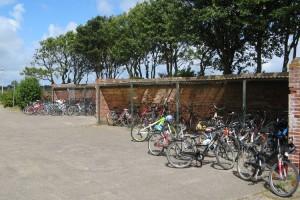 Die Fahrradständer müssen teilweise den Containern weichen...