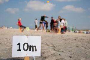 Leistungsmarken auch am Strand...