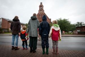 Viele Familien besuchten gemeinsam den Gottesdienst...