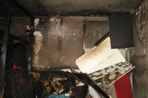 Brandraum voller brennbaren Material...