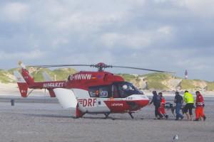 Nach der Reanimation wurde der Mann ins Westküstenklinikum nach Heide geflogen.