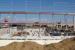 Deutlich zu erkennender Baufortschritt...