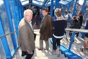 Die Bürgermeister Peter Koßmann und Bernd Dell-Missier gehörten zu den Premieregästen...