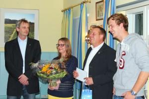 v.l. Aribert Schade, Jana Karlisch, Frank Timpe, Jörg Lund