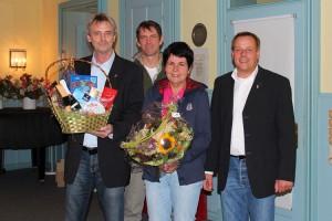v.l. Aribert Schade, Bernd Dell-Missier,  Susanne Daufenbach, Frank Timpe