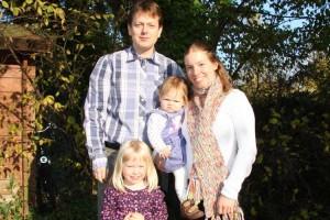 Anne-Sophie Bunk mit Familie