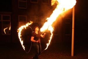 Feuershow als besonderer Abschluss...