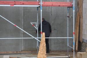 Baukontrolle durch Bauleitung vor Or...t stimmen die Maße?