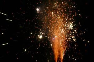 Feuerwerk - so auf Amrum nicht zu sehen...