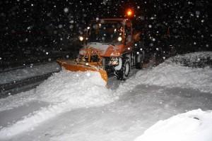 Der Winterdienst - alle Hände voll zu tun...