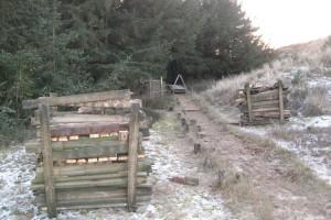 500 Meter des Bohlenwegenetzes werden erneuert...