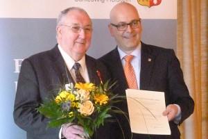 """""""Petje"""" Martinen mit Ministerpräsident Torsten Albig..."""