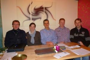 v.l. Ralf Klein, Carmen Klein, Ulf Jürgensen, Lars Hansen, Tom Kruggel