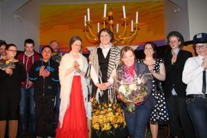 Miriam Traulsen mit ihrer Theater AG...
