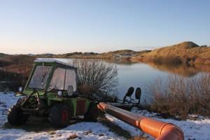 im Winter sorgte eine Pumpe für kurzzeitige Entspannung...