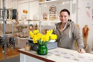 Ewelina Callsen in ihrem neuen Ladenlokal...