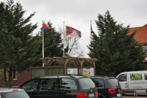 Solidarisch mit dem Hissen der tibetischen Flagge...