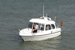 Dienstboot  um zeitnah Unterstützungseinsätze auf Amrum wahrnehmen zu können...