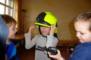 Testen von Helm und Funkgerät...