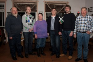Der Vorstand:  Martin Pörksen, Lennard Langfeld, Doris Müller, Volker Langfeld, Jan Martinen und Erk Tadsen