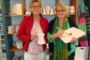 Manuela Streu (li) und Cornelia Garbe
