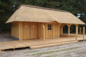 Der neue Servicepavillon...