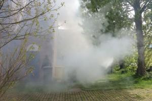 Feuer im Komposthaufen