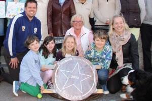 Familie Hesse freut sich über den Stern...