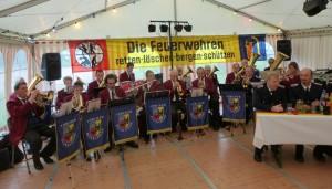 Schmissige Musik der Amrumer Blaskapelle...