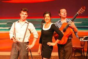 Die französische Sängerin Caroline du Bled und ihre Band Scorbüt