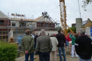Viele Besucher kamen zum Richtfest...