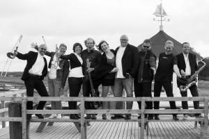 Die Amrumer Soulband kurz vor ihrem Konzert