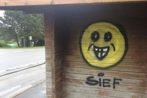 Sehen gegenüber echten Graffitis ungekonnt aus...