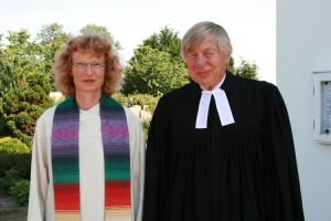 Pastorin Friederike Heinecke und Pastor Dr. Klaus Onnasch