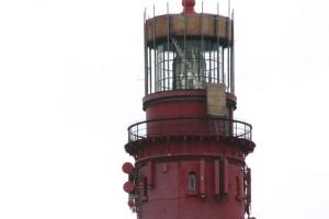 Der Leuchtturm ist mit diversen Mobilfunkantennen ausgestattet...