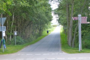 Die Straße zum Seezeichenhafen...