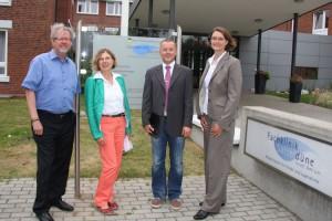 vl. Georg Robin Morrison. Dr. Ingrid Künzler, Dr. Christian Falkenberg, Saskia Louwers