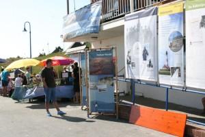 Die Schutzstation Wattenmeer präsentierte sich auf der unteren Wandelbahn in Wittdün...