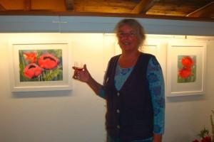 Birgit Sokollek bei der Eröffnung...