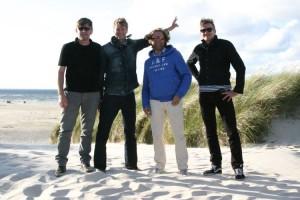 Martin Fuchs, Günter Wimmer, Zipp Kowalew und Guido Fuchs genießen das Gastspiel auf Amrum