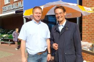 Ingbert Liebing (re) mit Heiko Müller Fraktionsvorsitzender der CDU Wittdün