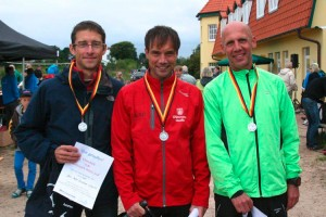 Die schnellsten Drei Rund um Amrum v.l. Jan Peter Brückner, Oleg Rantzow und Johannes Orthen