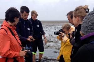Dr.Thomas Chrobock, Leiter des Carl Zeiss Naturzentrums des Öömrang Ferian, beschreibt die Vielfalt des Wattenmeers...