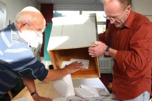 Stimmenauszählung in Norddorf...