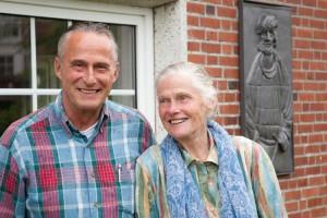 Karin Hertz an ihrem 92. Geburtstag mit ihrem Sohn...