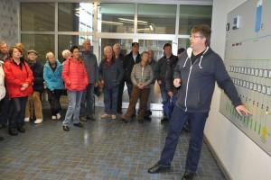 Dr. Hark Ketelsen erklärt die Föhrer Wasserversorgung...